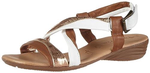 Tamaris 28130, Sandales Bout Ouvert Femme: Chaussures et Sacs