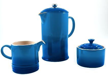 Le Creuset Marsella azul cerámica prensa francesa cafetera ...