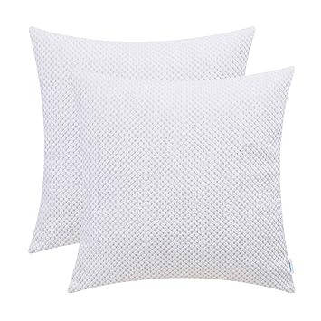 Amazon.com: CaliTime - Juego de 2 fundas de almohada cómodas ...