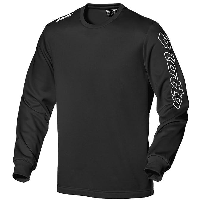 Lotto Camiseta - Hombre Negro Negro Large
