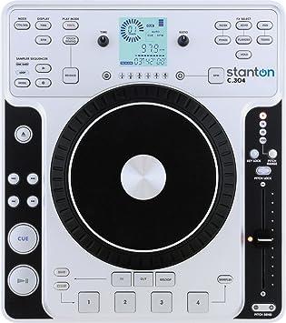 Amazon.com: Stanton C.304 mesa reproductor de CD con rueda ...