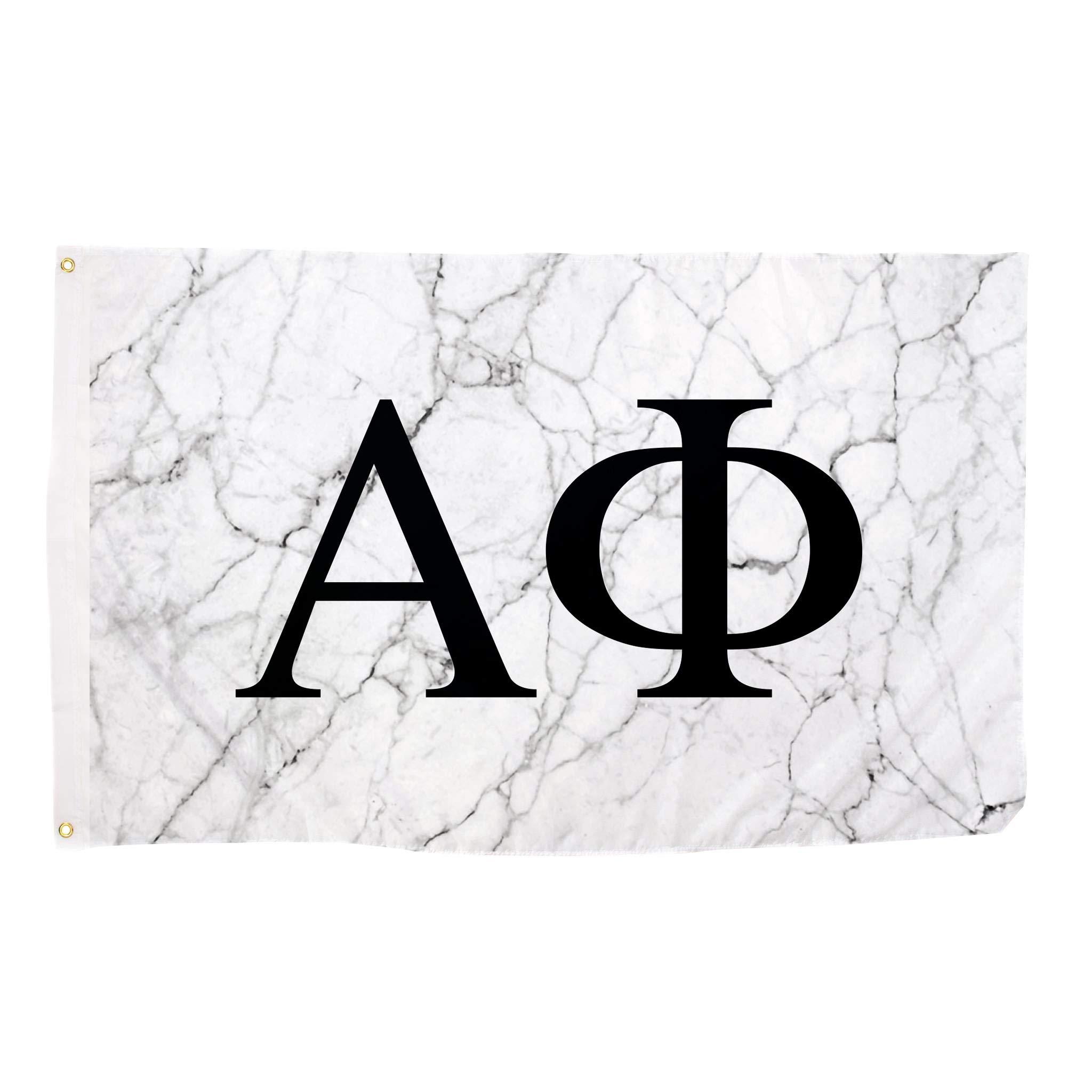 Alpha Phi Light Marble Sorority Letter Flag Banner 3 x 5 Sign Decor A Phi