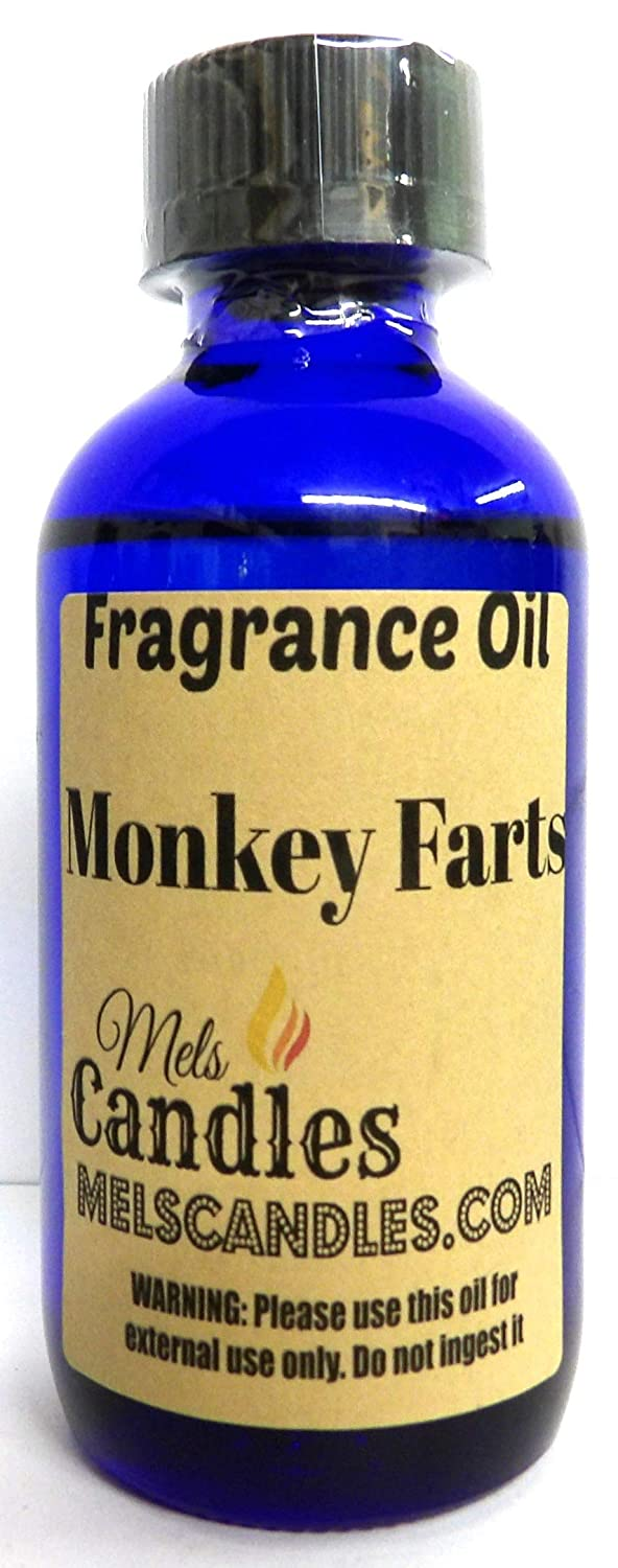Monkey Farts 4 oz / 118.29 ml Glass Bottle of Premium Grade A Fragrance Oil, Skin Safe Oil, Use in Candles, Soap, Lotions, Etc
