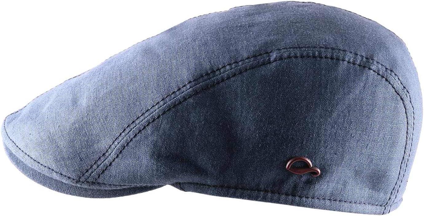 Gottmann Mens Jackson Linen Flat Cap