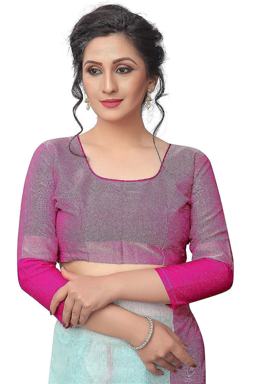 VintFlea Womens Sarees for Indian Women Linen Saree with Blouse Piece