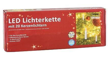 Nipach GmbH 20er LED Lichterkette Baumbeleuchtung Christbaumkerzen warmwei/ß Weihnachtsbaumkerzen Weihnachtsbaumlichter Weihnachtsbaumbeleuchtung Weihnachtsdeko gr/ünes Kabel Xmas
