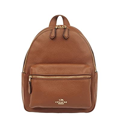 great prices excellent quality wide selection of colours and designs COACH (F38263) SADDLE MINI CHARLIE PEBBLED LEATHER BACKPACK BAG