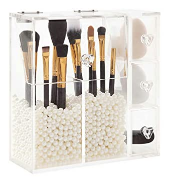 Amazon.com: PuTwo Organizador de maquillaje con 2 soportes ...