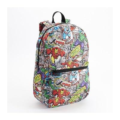 70%OFF Marvel Comic Heroes Print Backpack