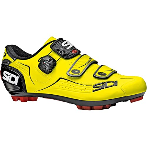 SidiSMS-TRC-FYBK-435 - Rastro MTB Hombres, Amarillo (Yellow Flou/Black), 45.5 EU: Amazon.es: Zapatos y complementos