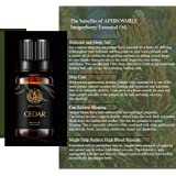 Cedar Aromatherapy Essential Oil, 100% Pure Cedar Scent Essential Oil for Diffusers, Humidifier, Therapeutic Grade Aromatherapy Cedar Scent Essential Oil Fragrance for Massage Home 0.33oz-10ml