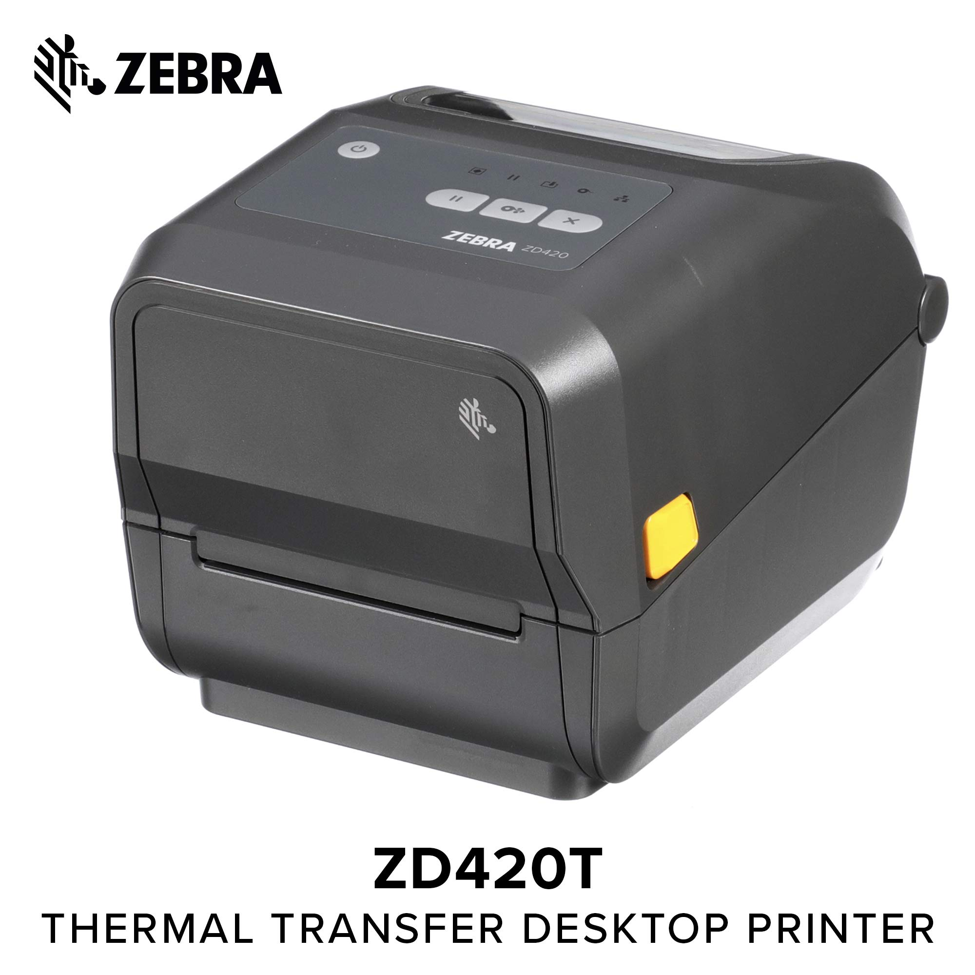 Zebra - ZD420t Thermal Transfer Desktop Printer for Labels and Barcodes - Print Width 4 in - 203 dpi - Interface: WiFi, Bluetooth, USB - ZD42042-T01W01EZ