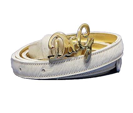 Dolce   Gabbana - Ceinture - Femme Blanc crème 85 cm  Amazon.fr ... 2ed5d8c510e