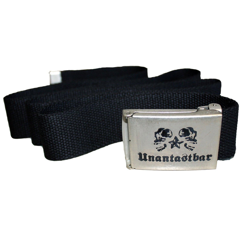 Unantastbar - Classic Gürtel mit Metallschnalle, Farbe: Schwarz