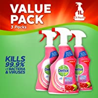 Dettol Power and Fresh Pomegranate Multi-Purpose Cleaner, 1 Litre, Pack of 3