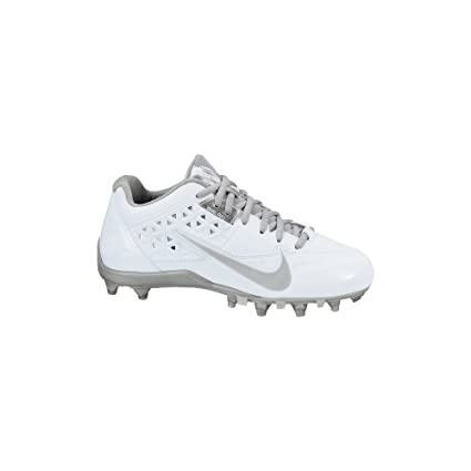 san francisco cb1d8 f1de9 Amazon.com  Nike Womens Speedlax 4 White Metallic Silver 6 B - Medium   Sports   Outdoors