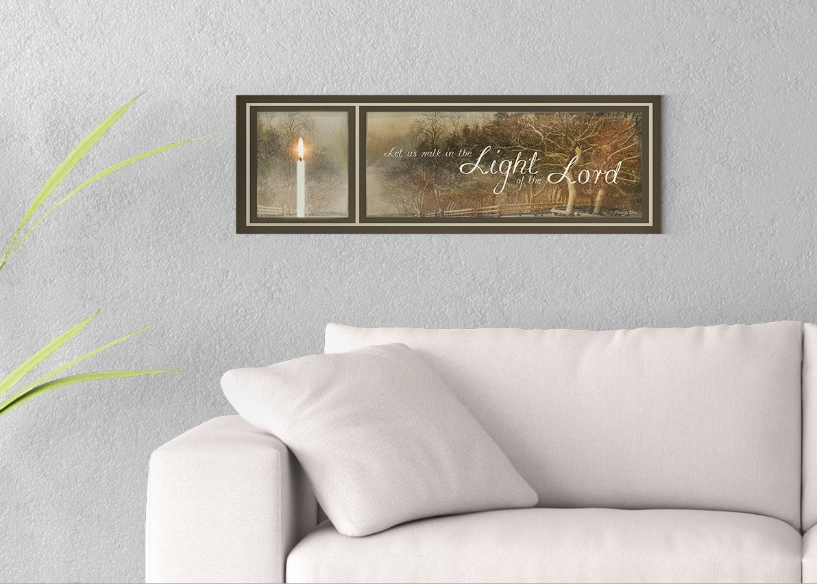 Walk in the Light Printed on 30x10 Canvas Wall Art by Pennylane