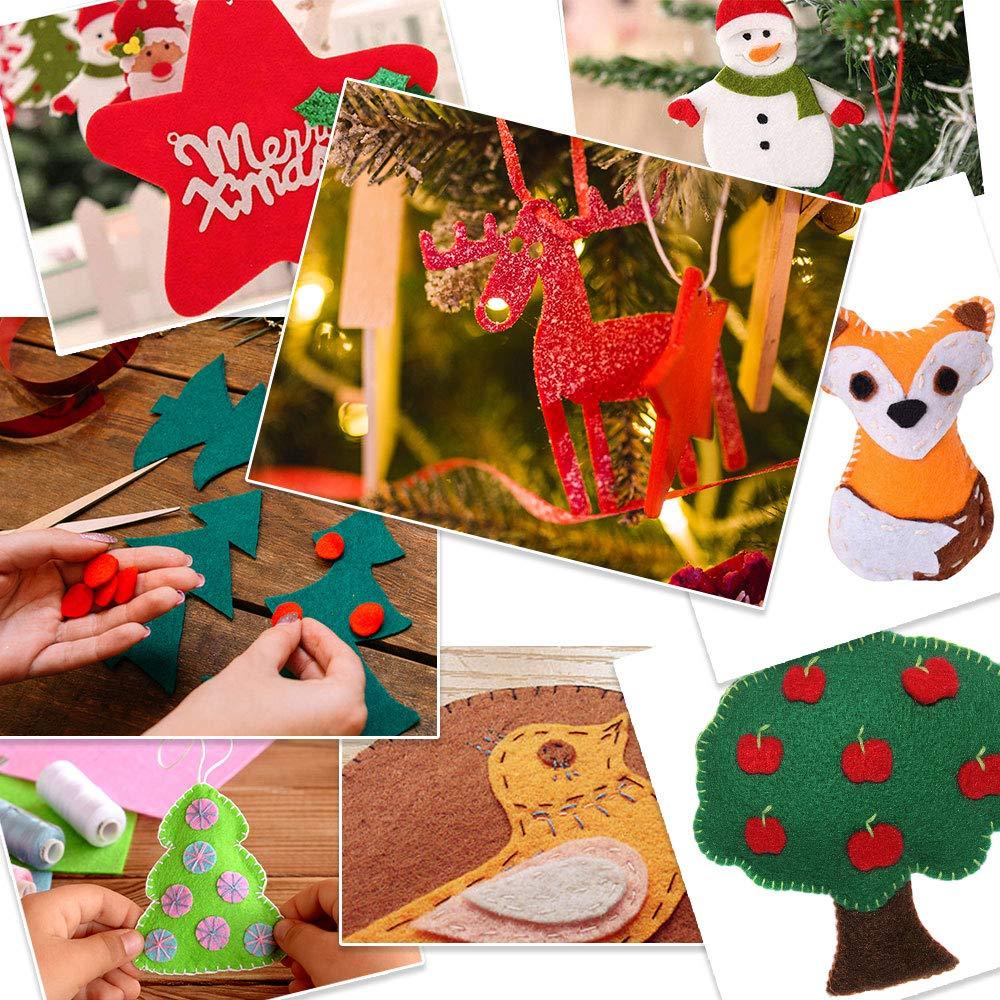 Tronisky Hoja de Fieltro, 40 Colores No Tejido Tela de Fieltro Suave Felt Fabric Sheets para para Manualidades Patchwork Costura DIY Craft Trabajo, ...