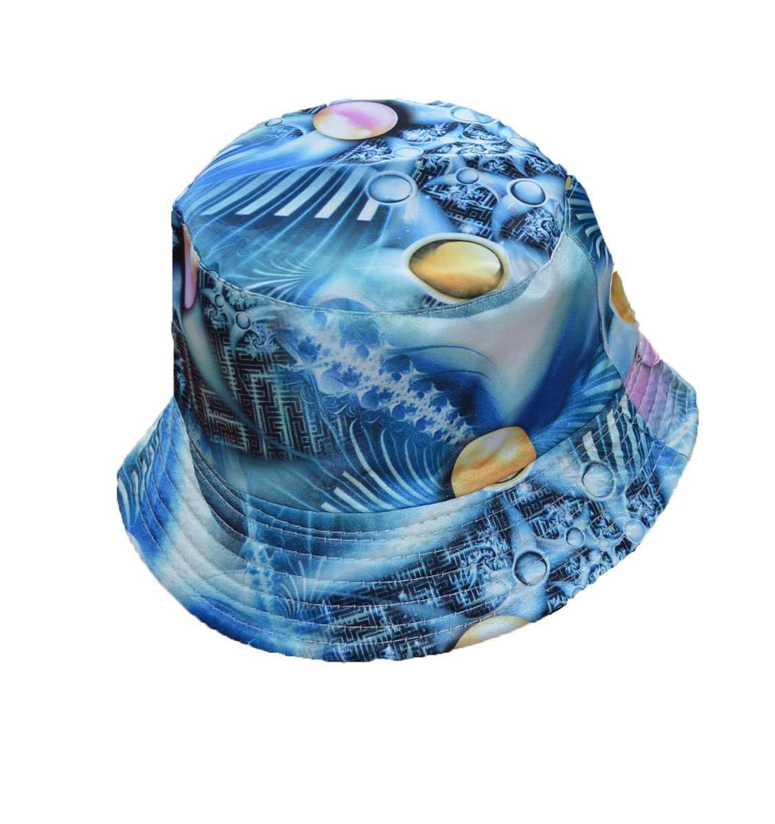 KGM Accessories Cool Universe print bucket style sun hat Blue