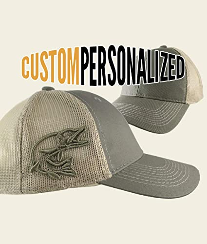 c74e255e20452 Amazon.com  Custom Personalized Pike 3D Puff Embroidery on an Adjustable  Full Fit Olive Green Trucker Cap and Your Choice of Front Decors Fishing Hat   ...