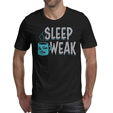 56c49ebab Image Unavailable. Image not available for. Color: ShengMingo Sleep is The  Weak Funny Man Tshirt