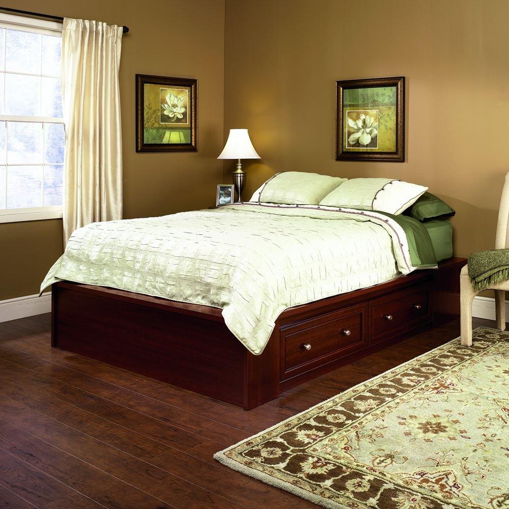 Sauder Bedroom Furniture Amazoncom Sauder 413998 Palladia Platform Bed Section Queen