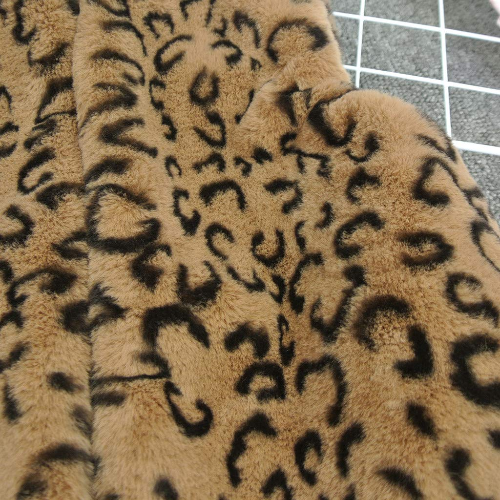 Snowbuff Giacca Gilet Cardigan Gilet Peluche Leopardo per Bambina Giacca Gilet Cardigan Smanicato Leopardo Peluche Bambina Giacca Calda Autunno E Inverno Giacca Gilet Casual