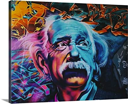 Canvas Wall Art - (Einstein) Wall Art Picture Printed Canvas paintings Stretched Framed & Amazon.com: Canvas Wall Art - (Einstein) Wall Art Picture Printed ...