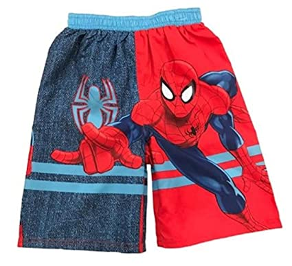 3bc58854b1683 Amazon.com: Spiderman Toddler Boy Graphic Swim Trunks 3T: Clothing