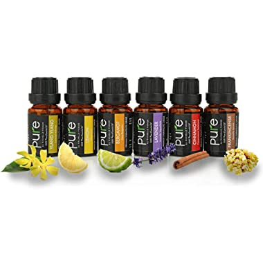 Relaxing Essential Oils Set with Premium Therapeutic Grade Ylang Ylang,Bergamot Oil,Cinnamon Oil,Lemon Oil,Frankincense Oil & Lavender Essential Oils for Relaxation & Stress Relief Oils Aromatherapy