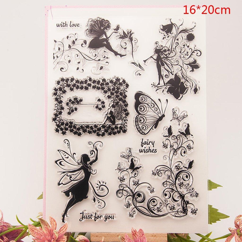 Kofun DIY Scrapbooking Transparent Stamps Silicone Rubber Clear Sheet DIY Card Gift Crafts