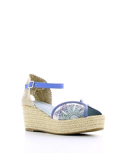 buy online 56ee9 36b80 Desigual Sandali Medio 4 41ss232 Blu: Amazon.it: Scarpe e borse