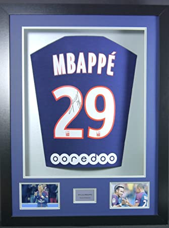 Kylian Mbappe PSG Signed Shirt 3D Framed Display with COA: Amazon.co ...