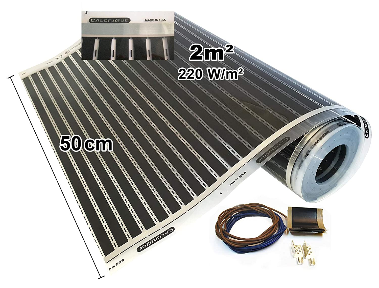 Calorique - Calefactor por infrarrojos, pantalla eléctrica de suelo radiante, 50cm, 220W/m² de suelo radiante, 0,5a15,0m², 230.00 voltsV
