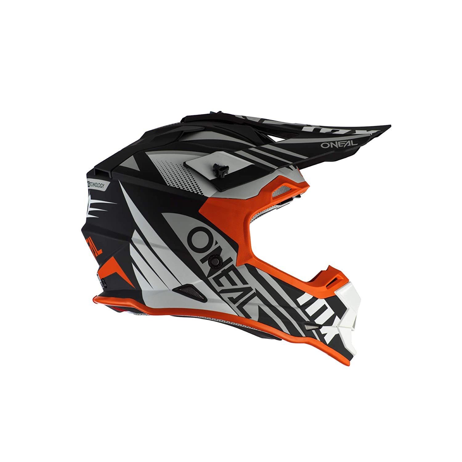 Black//White//Orange, M ONeal 2 Series Unisex-Adult Off-Road Helmet