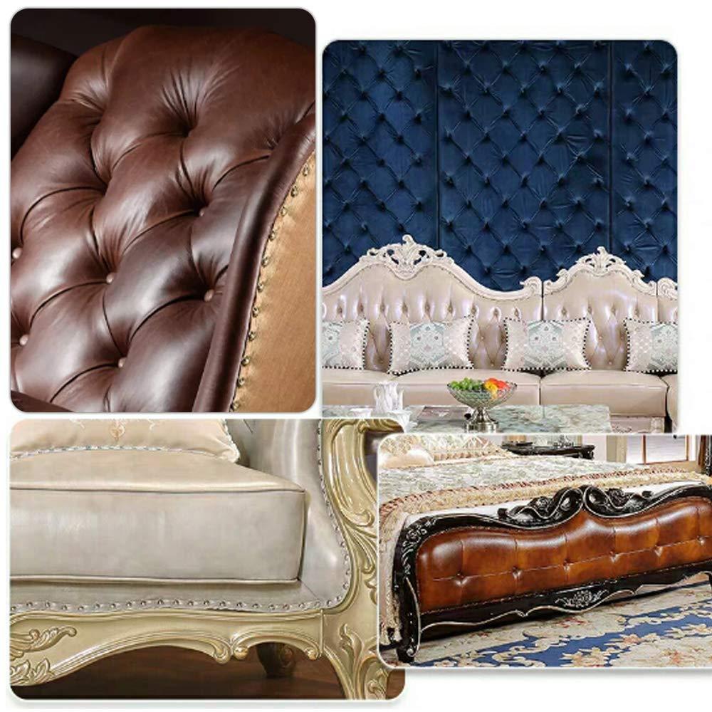 Sof/á 6 x 13MM Clavos Tapiceria Tachuelas con Hilo Vintage para Decorativo Muebles YOFASEN 200 Piezas Chincheta Tapiceria 6 x 13mm//0.23 x 0.51//Dorado//200 Piezas
