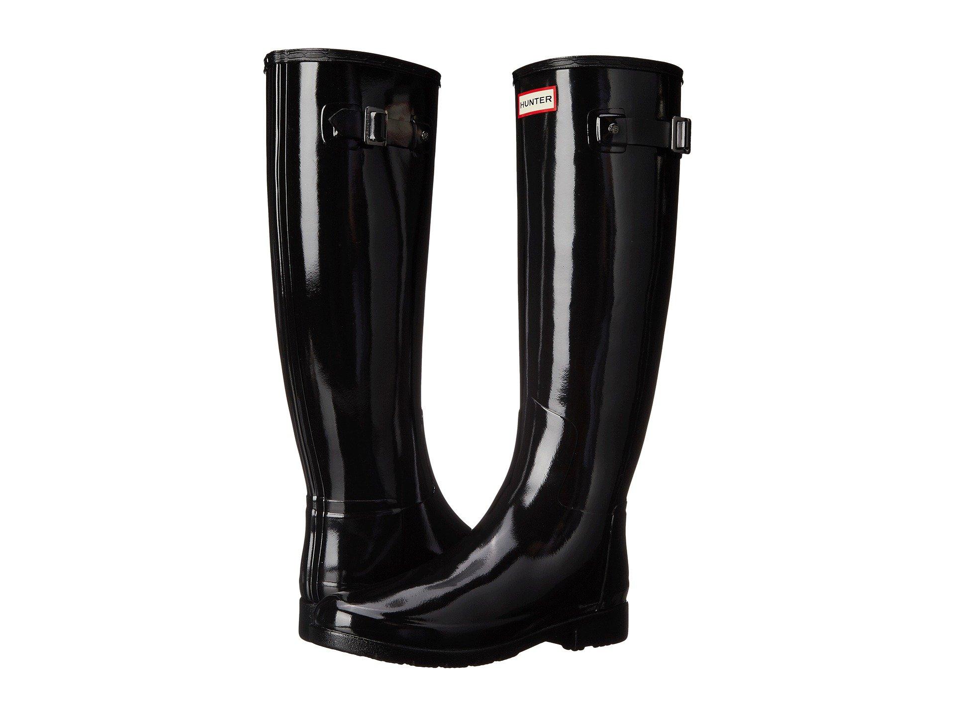 Hunter Boot USA Original Refined Gloss Black 7 Womens Boots