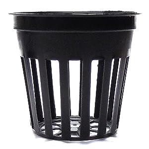 Teku 100 2 Inch Net Slit Pots for Hydroponic Aeroponic Use, Black