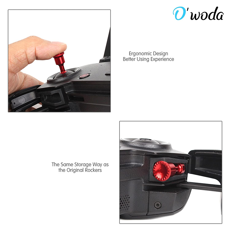 Owoda CNC Aluminum Controller Rocker Thumb Stick Rest Connector for DJI Mavic AIR