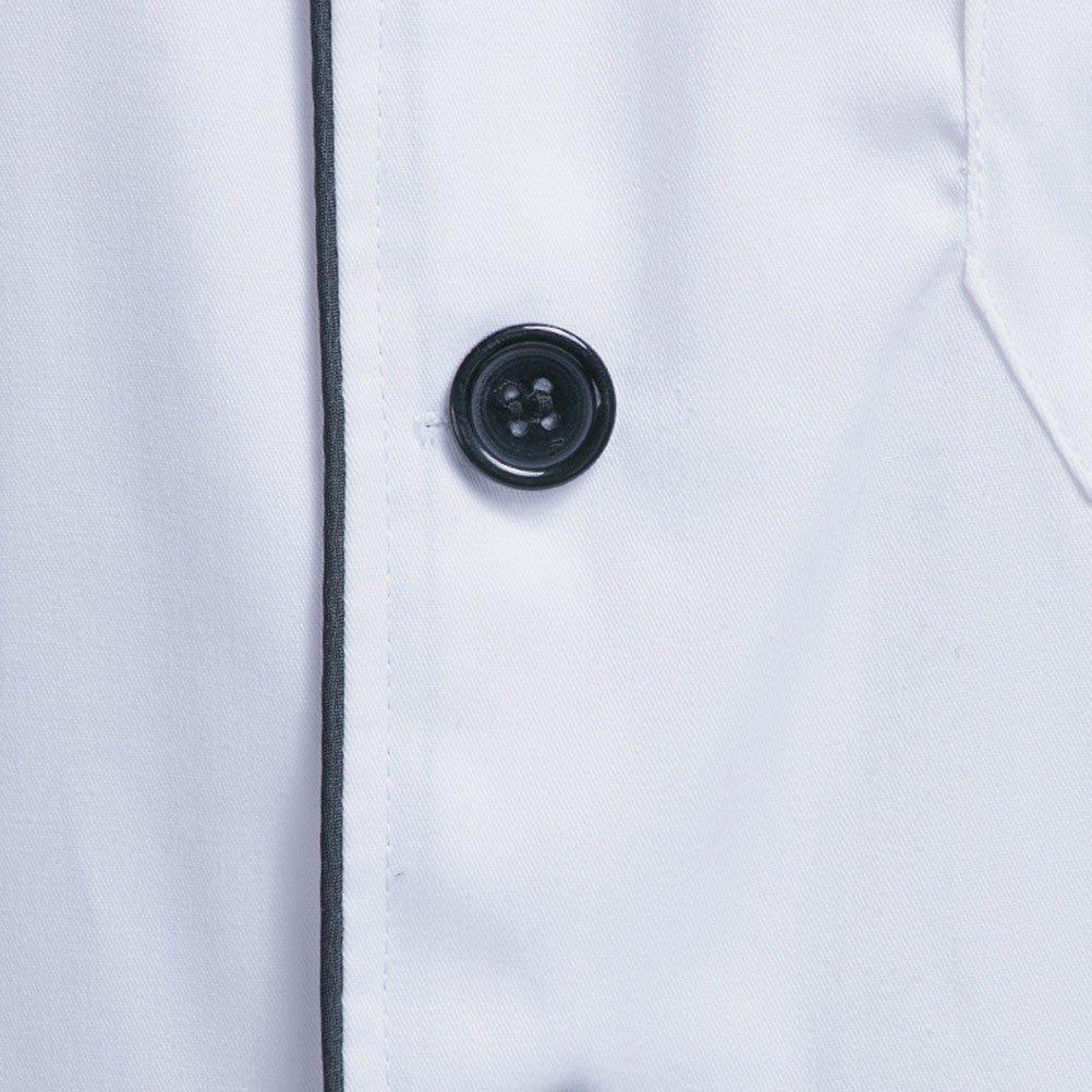 Zhhlinyuan Unisex Modern Short Sleeve Work Clothes Classic Chef Uniform
