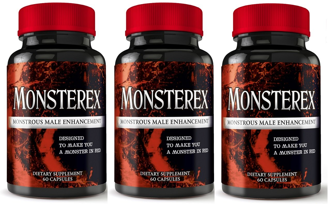 Monsterex - 3 Month Supply - Monstrous Male Enhancement Pills For Increased Size, Energy, Sex Drive - Erection Pills, Enlargement Pills, Sexual Enhancement, Boost Libido and Testosterone