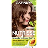 Garnier Nutrisse Nourishing Hair Color Creme, 60 Light Natural Brown (Acorn), 3 Count  (Packaging May Vary)