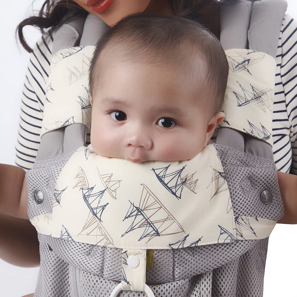 Organic Drool /& Teething Pads With Bib Designed for Ergobaby 360 Carrier Absorb