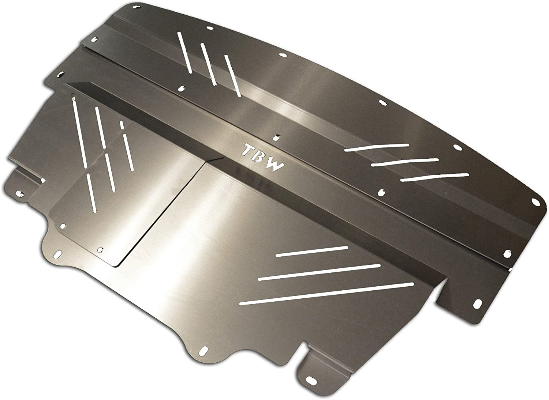 BLACK TBW Aluminum Under Tray for RWD Infiniti G37 /& Nissan 370Z Engine Skid Plate