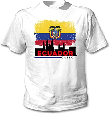 teesquare1st Quito Ecuador Camiseta Blanca para Hombre de Algodon ...