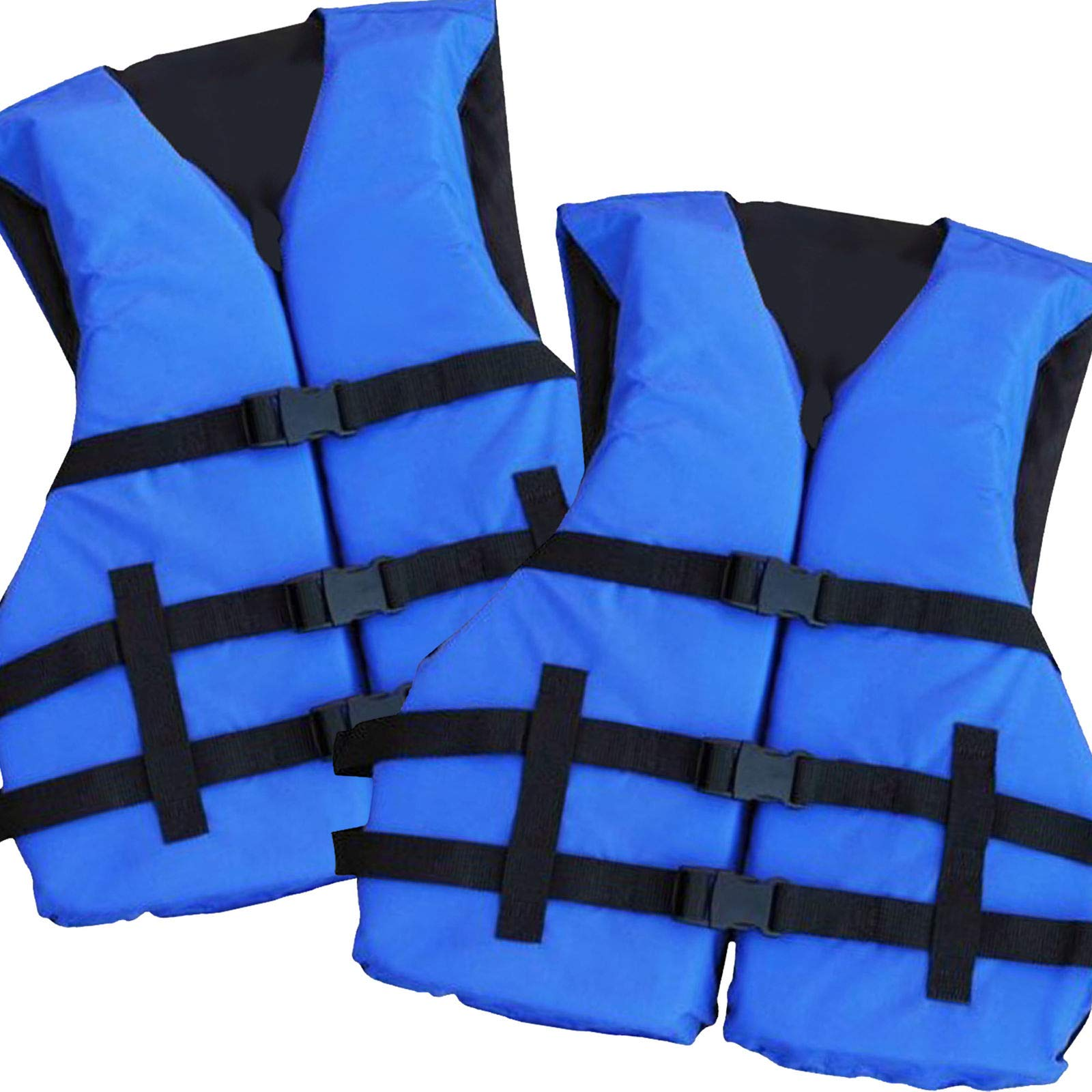 Hardcore Water Sports 2 Pack Basic Coast Guard Approved Life Jacket (Blue) by Hardcore Water Sports