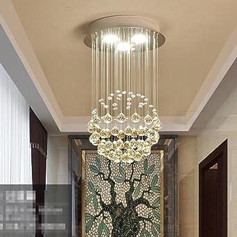 GBYZHMH Kristall Kronleuchter Runde Einfache Moderne Warmen Gang Duplex  Treppe Schlafzimmer Clothing Store Wohnzimmer Esszimmer Kronleuchter