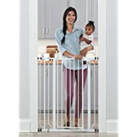 Regalo Easy Step Extra Tall Walk Thru Baby Gate, Includes 4-Inch Extension Kit, 4 Pack of Pressure…