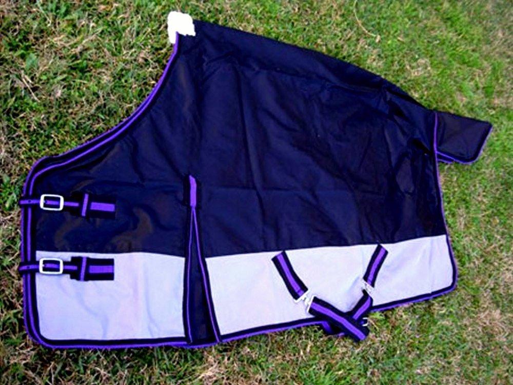 CHALLENGER 640D Turnout Water Resistant Winter Horse Sheet Light Blanket Black 905P