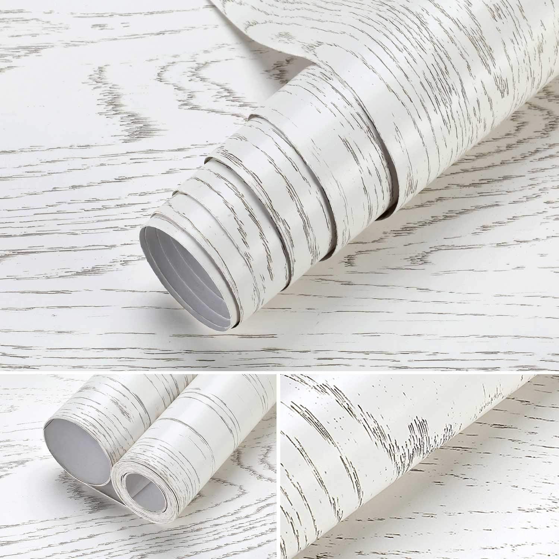 iKINLO Papier Pient ATR Deco 61 500CM Grain de Bois Autocollant /étanche /épaisse PVC Adh/ésif Film Stickers Muraux Convient aux Vieux Meubles tels Que Les Tables et Les Armoires etc.